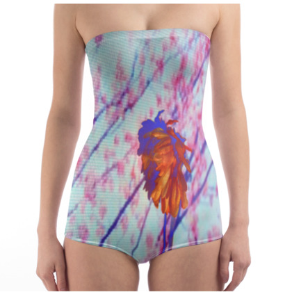 Faded Floral Swimsuit