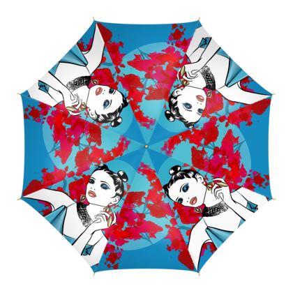 Fire and Ice Silk Umbrella