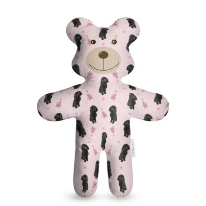 Pink teddy with black Cockapoo