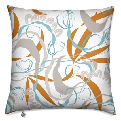 Cushion - rockpools & barnacles On White