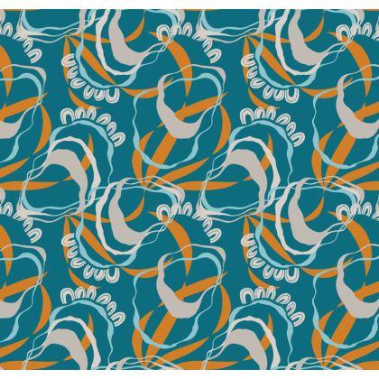 Cushion - rockpools & barnacles on Sea Green