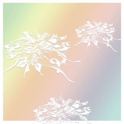 Kimono - White Ink gradient