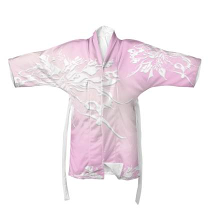 Kimono - White Ink Light pink