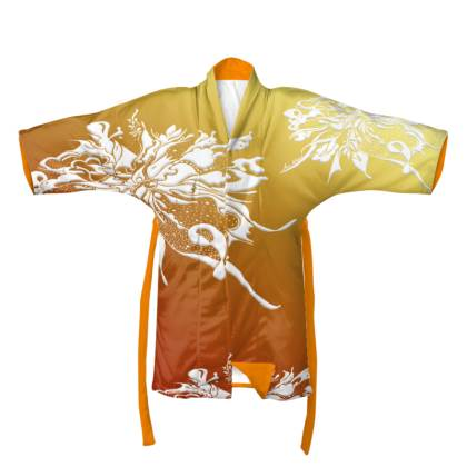 Kimono - White Ink Orange shades