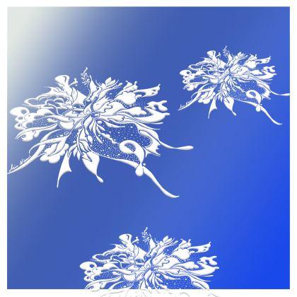 Kimono - White Ink Blue shades