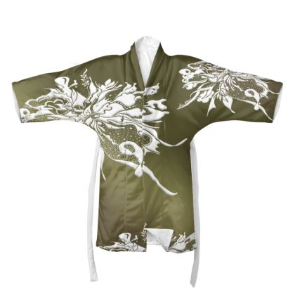 Kimono - White Ink Green shades