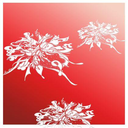 Kimono - White Ink Red shades