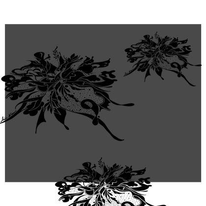 Kimono - Black Ink Grey