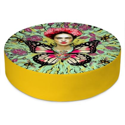 Frida Kahlo's Butterfly - Sunflower Yellow