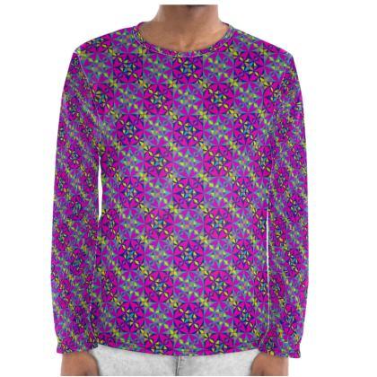 Mens Night Set Arabesque Purple Pattern