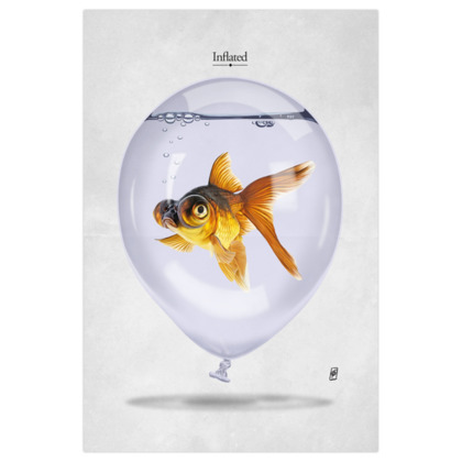 Inflated ~ Titled Animal Behaviour Art Print