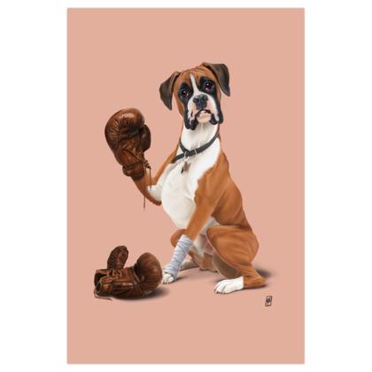 The Boxer ~ Colour Animal Behaviour Art Print