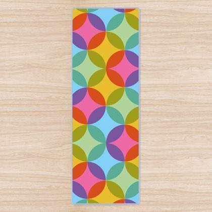 Geometric Rainbow Vibes Yoga Mat