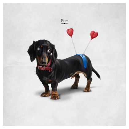 Butt ~ Titled Animal Behaviour Cushion