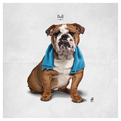 Bull ~ Titled Animal Behaviour Cushion