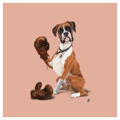 The Boxer ~ Colour Animal Behaviour Cushion