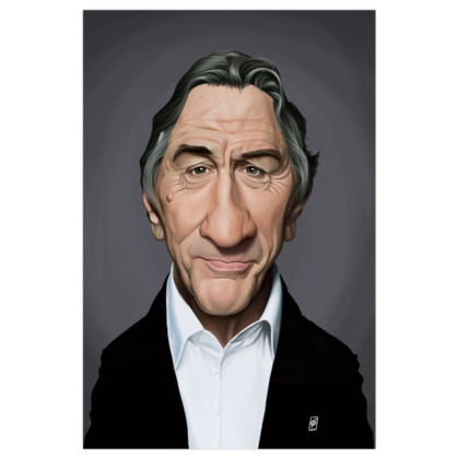 Robert De Niro Celebrity Caricature Art Print