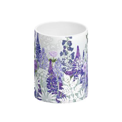 Daydream in Blue Tall Bone China Mug