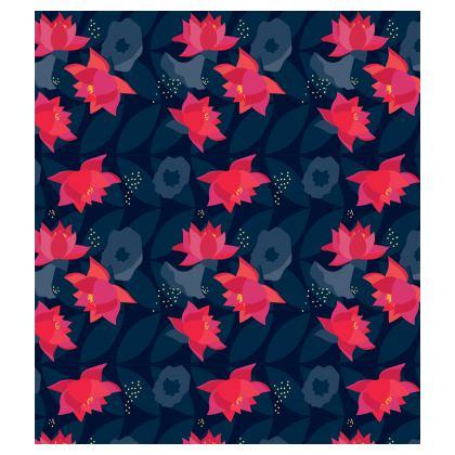 Midnight Flowers Skater Dress