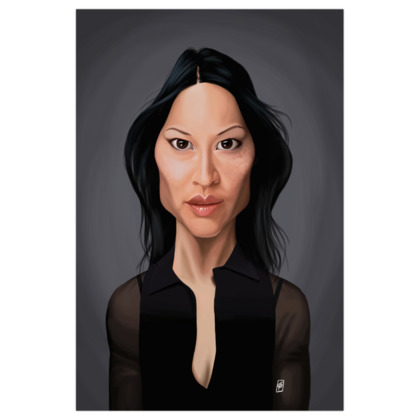 Lucy Liu Celebrity Caricature Art Print