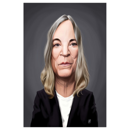 Patti Smith Celebrity Caricature Art Print