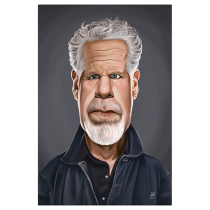 Ron Perlman Celebrity Caricature Art Print