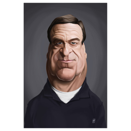 John Goodman Celebrity Caricature Art Print