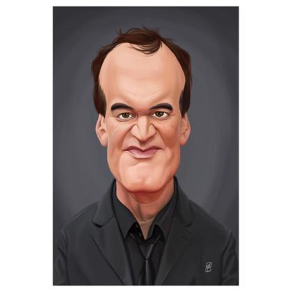 Quentin Tarantino Celebrity Caricature Art Print
