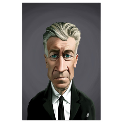 David Lynch Celebrity Caricature Art Print
