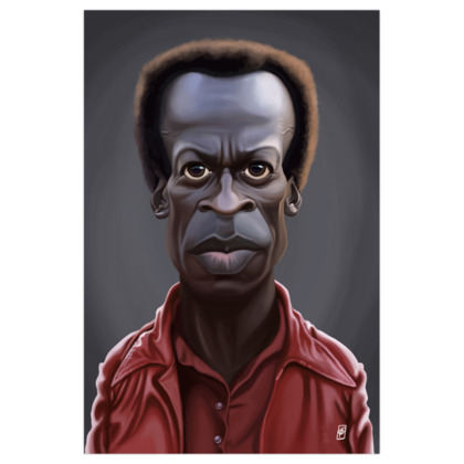Miles Davis Celebrity Caricature Art Print
