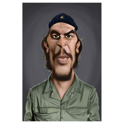 Che Guevara Celebrity Caricature Art Print