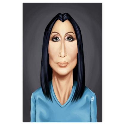 Cher Celebrity Caricature Art Print