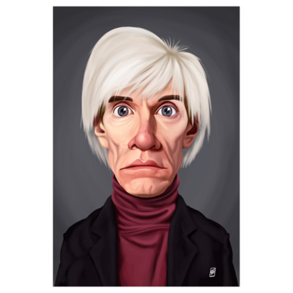 Andy Warhol Celebrity Caricature Art Print