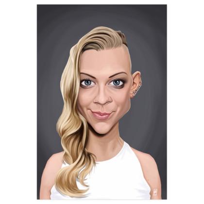 Natalie Dormer Celebrity Caricature Art Print