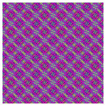 Tablecloth Arabesque Purple Pattern