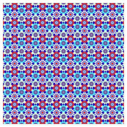 Tablecloth Floral Blue Kaleidoscope