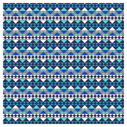 Tablecloth Mayan Pattern Blue