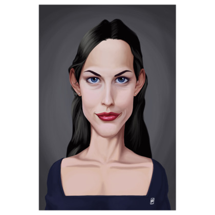 Liv Tyler Celebrity Caricature Art Print