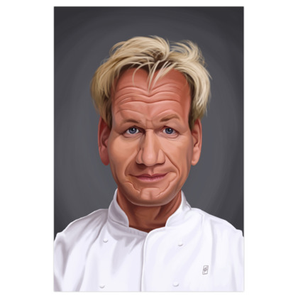 Gordon Ramsey Celebrity Caricature Art Print