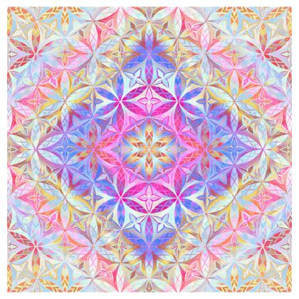 Cup And Saucer Kaleidoscope Flower Of Life 2