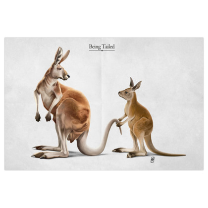 Being Tailed ~ Titled Animal Behaviour Art Print