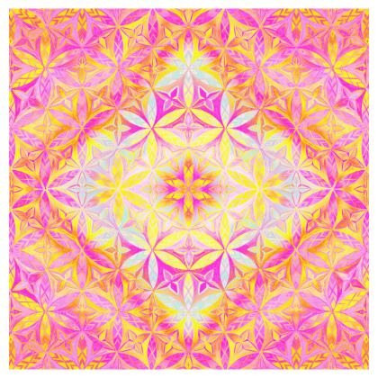 Cup And Saucer Kaleidoscope Flower Of Life