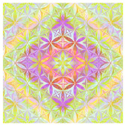 Cup And Saucer Kaleidoscope Flower Of Life 1