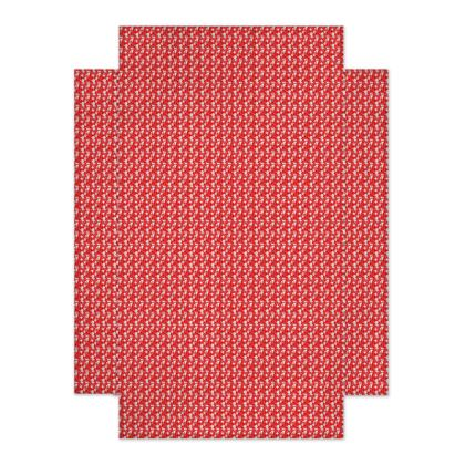 drap housse liberty blanc fond rouge