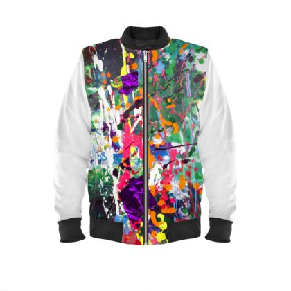 Mens Bomber Jacket makes an impact with this colorful design