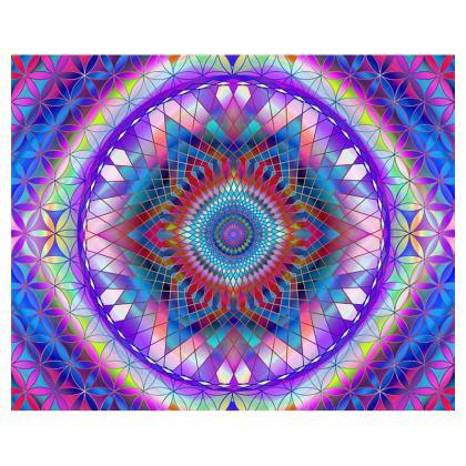 Cup And Saucer Mandala Purple Snowflake