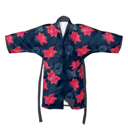 Midnight Flowers Kimono