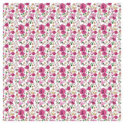 plat rond à gâteaux, motif rose fond blanc
