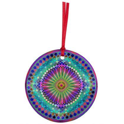 Christmas Ornaments Sun Mandala