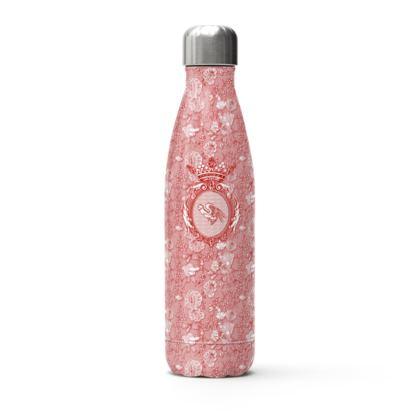 bouteille isotherme pénis ailé rouge fond rouge et blanc